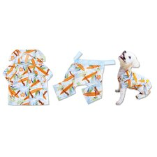 Surf's Up Hawaiian T-Shirt and Board Shorts for Dog