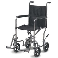 "19"" Steel Folding Transport Wheelchair"