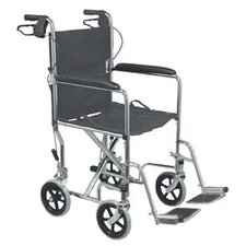 "19"" Steel Transport Wheelchair with Handbrakes"