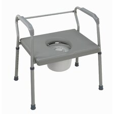 Bariatric Extra-Wide Fixed Arm Steel Commode