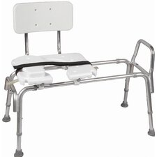 <strong>Briggs Healthcare</strong> Heavy Duty Adjustable Sliding Transfer Bench with Cut Out Seat
