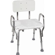 <strong>Briggs Healthcare</strong> Shower Chair with Arms and Back Rest