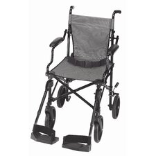 "<strong>Briggs Healthcare</strong> 22.5"" Folding Lightweight Transport Wheelchair with Carrying Tote"