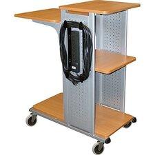 4-Shelf Presentation Station in Nickel / Aspen Finish