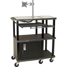 Tuffy Extra Wide Presentation Station with Monitor Mount