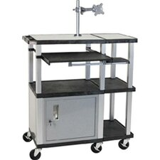 Tuffy 70 Series Large Work Surface Presentation Station with Monitor Mount