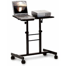Mobile Laptop Presentation Stand with Dual Adjustable Platforms