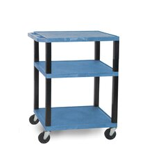 "Tuffy 34"" Open Shelf AV Cart with Legs"