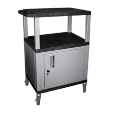 Tuffy Utility AV Cart with Cabinet