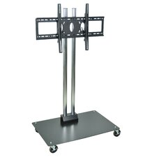 "Universal Mobile Flat Panel Display Stand with 4"" Casters"