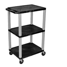 Tuffy Open Shelf AV Cart with Legs