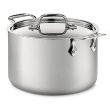 d5 Brushed Stainless Steel 4 Qt. Soup Pot with Lid