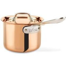 c2 Copper Clad Sauce Pan with Lid