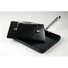 Hard Anodized Nonstick Panini Pan with Press