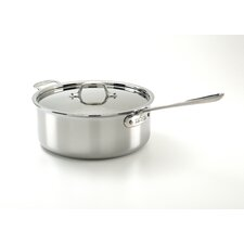 Stainless Steel 6-qt. Saute Pan with Lid