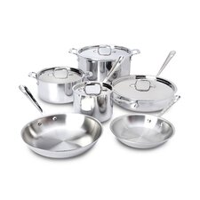 <strong>All-Clad</strong> Stainless Steel 10-Piece Cookware Set