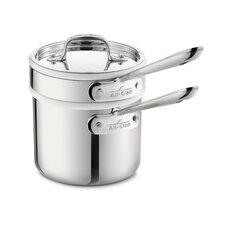 Stainless Steel 2-qt Double Boiler Set