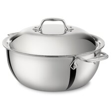 <strong>All-Clad</strong> Stainless Steel 5.5-qt. Round Dutch Oven