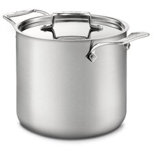 <strong>All-Clad</strong> d5 Brushed Stainless Steel 7-qt. Tall Stock Pot with Lid