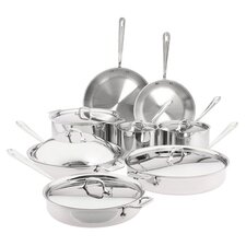 <strong>All-Clad</strong> Stainless Steel 14-Piece Cookware Set