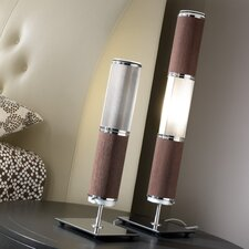Bambu Table Lamp with Drum Shade