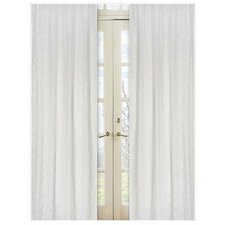 Eyelet White Window Panel (Set of 2)