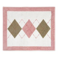 <strong>Sweet Jojo Designs</strong> Argyle Pink Cocoa Collection Floor Rug