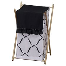 <strong>Sweet Jojo Designs</strong> Princess Black and White Laundry Hamper