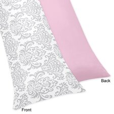 Pink and Gray Elizabeth Cotton Body Pillow Case