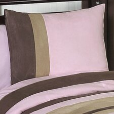 <strong>Sweet Jojo Designs</strong> Soho Pink and Brown Standard Pillow Sham