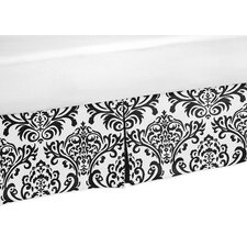 Black and White Isabella Collection Queen Bed Skirt