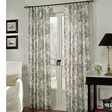 Black Toile Cotton Curtain Panel (Set of 2)