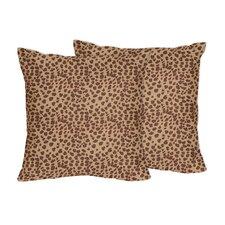 Cheetah Girl Accent Pillow (Set of 2)