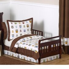 Night Owl 5 Piece Toddler Bedding Set