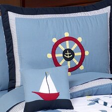 Come Sail Away Toddler Standard Pillow Sham