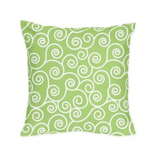 Olivia Decorative Pillow with Scroll Print