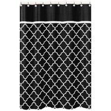 Trellis Brushed Microfiber Shower Curtain