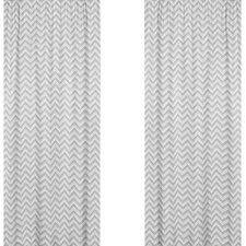 Zig Zag Cotton Curtain Panel I (Set of 2)