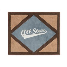All Star Sports Floor Brown/Gray Area Rug