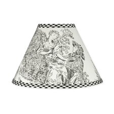 Black Toile Lamp Shade