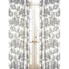 <strong>Sweet Jojo Designs</strong> Black Toile Cotton Curtain Panel (Set of 2)