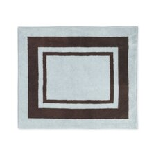 Hotel Blue and Brown Collection Floor Rug