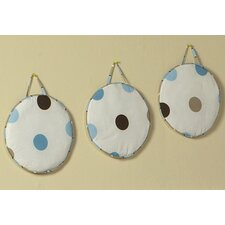 3 Piece Mod Dots Hanging Art Set