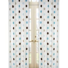 <strong>Sweet Jojo Designs</strong> Mod Dots Cotton Curtain Panel (Set of 2)