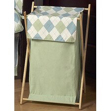 <strong>Sweet Jojo Designs</strong> Argyle Green Blue Laundry Hamper