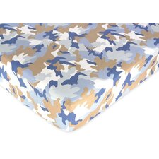 <strong>Sweet Jojo Designs</strong> Camo Printed Fitted Crib Sheet