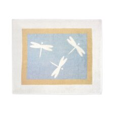 Blue Dragonfly Dreams Collection Floor Rug