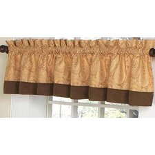Camel Paisley Cotton Rod Pocket Tailored Curtain Valance
