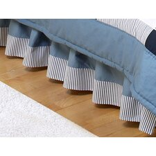 Come Sail Away Toddler Bed Skirt
