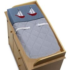 <strong>Sweet Jojo Designs</strong> Come Sail Away Collection Changing Pad Cover